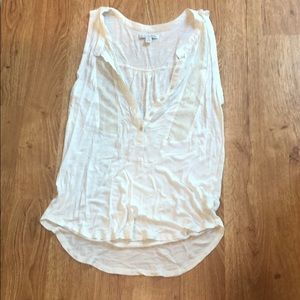 American Eagle white tank with gold mesh; Small